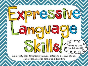 Expressive Language Skills Activity Pack!