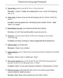 Expressive Language Strategies Handout- BUNDLE- Spanish and English