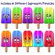 Expressive Popsicles Clip Art