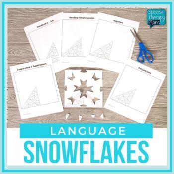 No Prep Expressive & Receptive Language Snowflakes