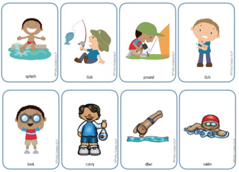 Speech Therapy Personal Pronoun and Verb Activity Resource