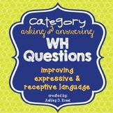WH Questions Cards For Speech Therapy