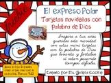 Expreso Polar mini tarjetas navideñas con palabra de Dios