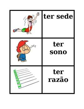 Expressões com ter Portuguese verb Concentration games