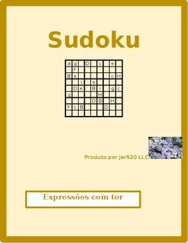 Expressões com ter Portuguese verb Sudoku 1