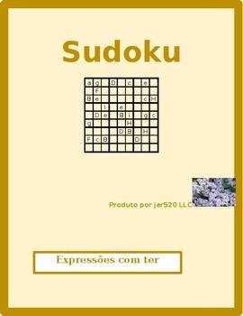 Expressões com ter Portuguese verb Sudoku 2