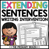 Extend A Sentence Writing Intervention Activity