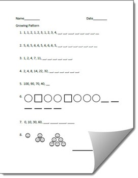 Extend a Growing Pattern Printable Worksheet (2nd Edition)