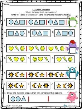 Extend a Pattern Worksheet