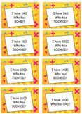 Extended Addition Doubles Fact Game - I Have... Who Has...?