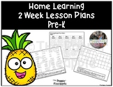 Distance Learning Pre-K Lesson Plans for Home
