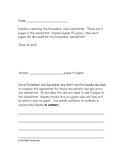 Extended Constructed Response Math Word Problems