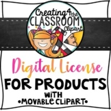 Digital License for Products with Movable Clip Art