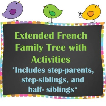 Extended Family Tree / Arbre Généalogique with Writing Activities