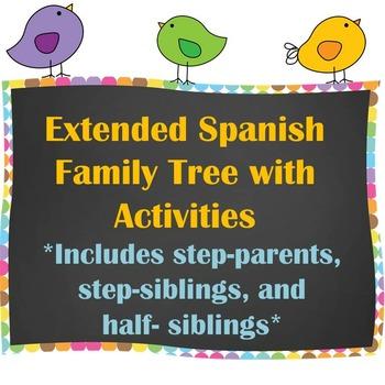 Extended Family Tree / Árbol Genealógico with Writing Activities