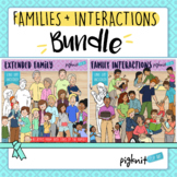 Extended Family and Family Interactions Clipart Bundle