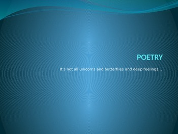 Extended Introduction to Poetry PPT