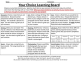 Grab and Go- Choice Boards and Rubrics