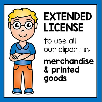 Extended License - Clipart for Merchandise and Goods