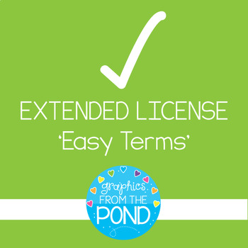Extended License {Easy Terms} Graphics From the Pond