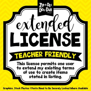 Extended License {Zip-A-Dee-Doo-Dah Designs}
