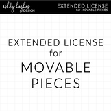 Extended License for Movable Clipart Pieces  [Ashley Hughe