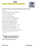 Extended Metaphor Poetry Analysis