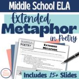 Extended Metaphor in Poetry Middle School Digital