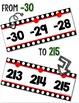 {Extended} Number Line (-30 - 215) - Black & White Polka Dot