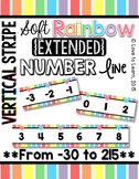 {Extended} Number Line (-30 - 215) - Soft Rainbow Vertical Stripes