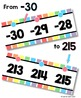 {Extended} Number Line (-30 - 215) - Soft Rainbow Vertical