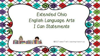 Extended OHIO 6-8 ELA Standards in I Can Statement Format