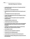 Extended Response Checklist