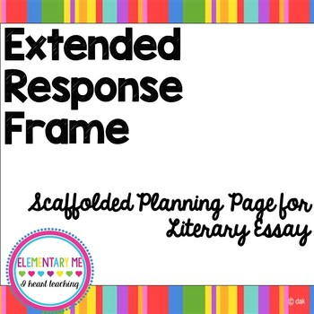 Extended Response Frame- Scaffolded Support for Complete E