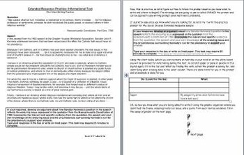 Extended Response Pretimed writing practice: Informational Text