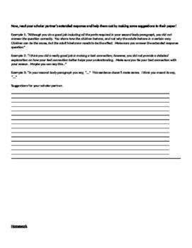 Extended Response Self & Peer Review