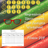 Extended School Year ESY Regression and Recoupment Worksheet
