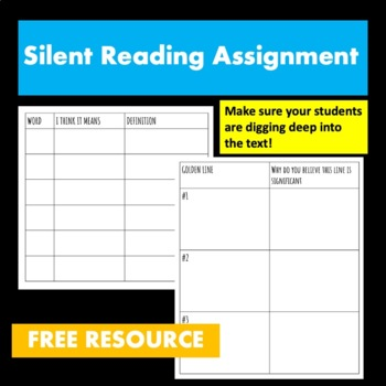 Extended Silent Reading Assignment