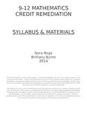 Math Extended Standards 9-12 Math Assessments