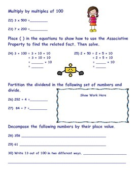 Extended Standards Pre/Post Test *Numbers and Operations in Base 10 3-5
