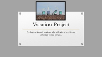 Extended Vacation Alternative Assignment