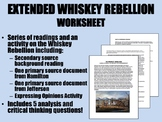 Extended Whiskey Rebellion Worksheet - USH/APUSH