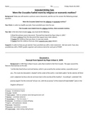 Extended Writing DBQ Response - The Crusades