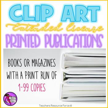 Extended clip art license - Printed Publications (1-99 copies)