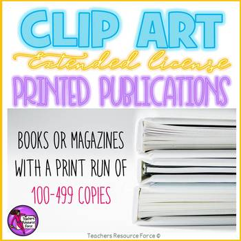 Extended clip art license - Printed Publications (100-499 copies)