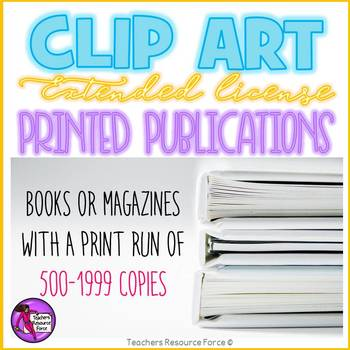 Extended clip art license - Printed Publications (500-1999 copies)