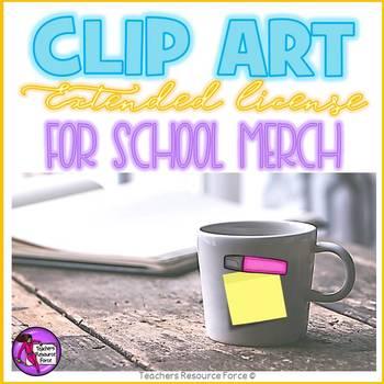 Extended clip art license - School Merchandise