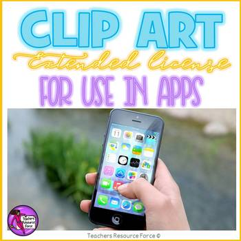 Extended clip art license - single educational app