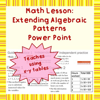 Extending Algebraic Patterns: A Power Point Lesson