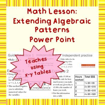 Extending Algebraic Patterns: A Power Point Lesson
